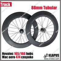 3k matte/glossy 700c carbon flip-flop 88mm tubular track wheels fixed gear