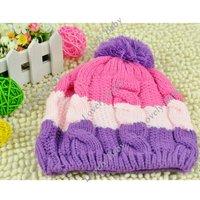 New Cute Sweet Baby Kids Children Girls Boys Stretchy Warm Winter cap Baby Hat Beanie Free Shipping 5469