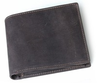 2014 new men GENUINE LEATHER vintage brand short section foldable Wallet coins purse card holder LF02127