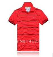 Free Brand New Man shirt Small striped more color Men T-shirt