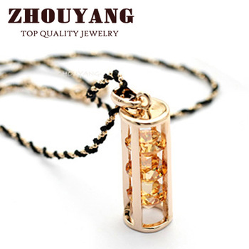 ZYN115 Necklace 18K Rose Gold Plated Fashion Pendant Jewelry Made with Austria Crystal  Wholesale