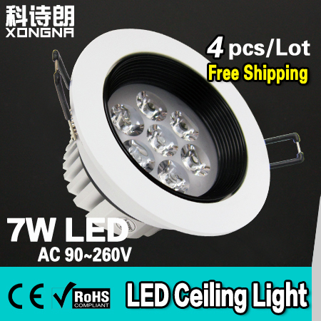 AC85~265V 7W LED Ceiling Light with Epistar Chip 100~110LM/W CE & RoHS Warm White/Cold White(China (Mainland))
