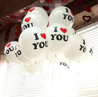 10PCS 30cm 12'' BIG Pearl Latex Balloon While Color Christmas Wedding Party I LOVE YOU words Proposal