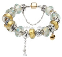 Fashion Beautiful White and Golden Bead Charm Bracelets AG51