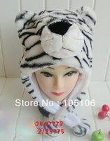 White Tiger Mix Order Animal Caps Party Cartoon Hats Cap Winter Hat Birthday Plush Headgear Wolf