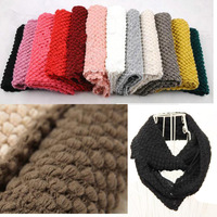 winter solid color Sweet Corn Kernels Yarn bandelet Muffler Scarf  Neckerchief Shawl Free Shipping Wholesale