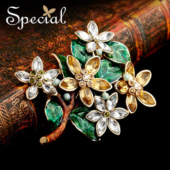 Special Brooches Handmade Enamel Synthetic Zircon Vintage Classic Design Hot Sale Free Shipping Jewelry XZI09A2505