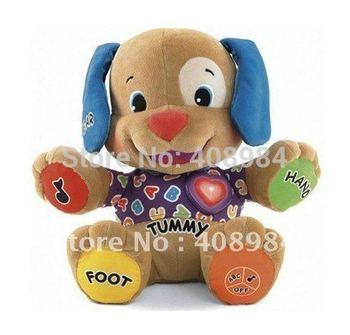 free shipping  Laugh & Learn Baby Plush Musical Toys  Music Dog Singing English Songs