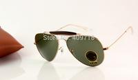 New Designer Sunglass Fashion Sunglasses Men's/Womens's Brand 3407 Outdoormn II Metal Gold Sunglass Green Lens 58mm Box