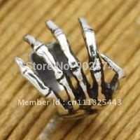 2pcs individual Ear Stud  Ear Cuff 925 Sterling Silve Ear Clips  skull hand Cartilage Wraps Clip Nonpierced Earrings jewelry 10#