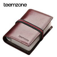 New 10-312 big capacity men credit card holder 100% cowhide genuine leather women card bank card case