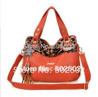 Speciall Offer Women PU Handbag  Lady Leopard Bag  Highlight Surface Free Shipping