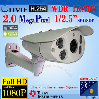 W5999W-B, Full HD 1080P Outdoor 3.0 Megapixel H.264 Night Vision IP Camera with 2MP Progressive CMOS WDR Sensor ONVIF TI DM368