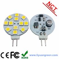 25Pcs/Lot SMD 5050 12PCS LED 10-30V LED Spot Light G4 Bulb Lamp Cold white / Warm White 120 Degree Free Shipping