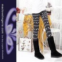 ML7556  New Arrival  Sexy Knitted Animal Printed Leggings Free Shipping Sexy Warmer Leggings For Women Leggings Girl Legging