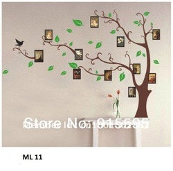 Free Shipping:Large Brown Photo Trees 3D Wall Sticker Beauty/Wall Decals/Removable Pvc Wall Decor Stickers/Dropshipping120*170Cm(China (Mainland))