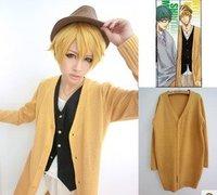 Kuroko's basketball Cosplay Kise Ryota Yellow Long Cardigan Boy Sweater Anime Costume