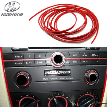 Car 5meters/set Decorative thread sticker interior Air Conditioner Outlet Dashboard Decoration Strip products