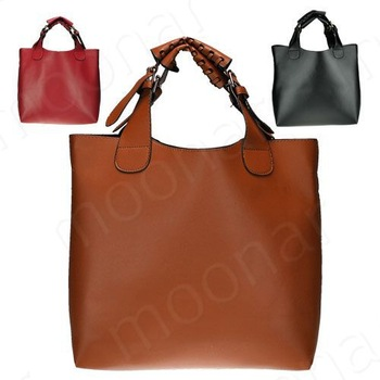 New Vintage Celebrity Women Handbag PU Leather Tote Shoulder Shopper Bag Mult 3 Colors Super Star Fashion  B089