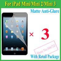 Matte Anti-Glare Anti Glare Screen Protector Protection Guard Film For iPad Mini Mini2 2 Retina,With Retail Package+3pcs