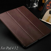 Luxury Pattern Magnetic with Stand Leather Case for iPad 4 3 2 New Smart Cover for iPad4 , Best Microfibre Protection Inside