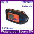 1.5 inch LCD HD119 1080P DVR bicycle Helmet camcorder SPORTS camera Video recorder Motorcycle DVR 5.0 MP Free shipping!(China (Mainland))