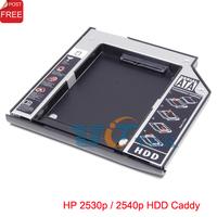 2nd Hard Drive HDD Caddy Adapter For HP Compaq EliteBook 2530p 2540p SATA CD DVD Optical Bay Singapore Post