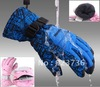 Wholesale Men and women skiing gloves riding gloves  winter gloves free shipping(China (Mainland))