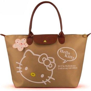Free shipping 5 pcs/lot 2013 New arrive hello kitty Waterproof shopping bag women's fold handbag Shoulder bag Ladies' hand bags