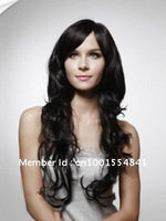 Custom Color 100% Remy  Hair Long Big Curly Wig---Free Shipping