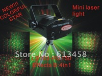 Free Shipping for Mini Green & Red 150mW Firefly Laser Stage Lighting with Step Motor
