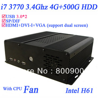 2013 new i7 computer with Quad core intel 3770 3.4Ghz USB 3.0 HDMI VGA DVI WIN. 7 installed 4G RAM 500G HDD