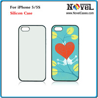 Free Shipping Newest Sublimation Silicon case for i Phone5/5S