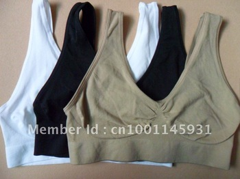 s-xxxl size ahh bra without pads, nylon and spandex material 3pcs
