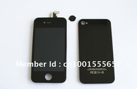 Freeshipping Wholesales  Black&White   LCD Screen  & Glass Back Cover Assembly For iPhone 4 4g 4s  ,Good Quality !100% New
