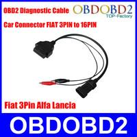 OBD OBD2 Fiat 3 Pin Alfa Lancia to 16 Pin Diagnostic Cable Car Connector Fiat 3Pin