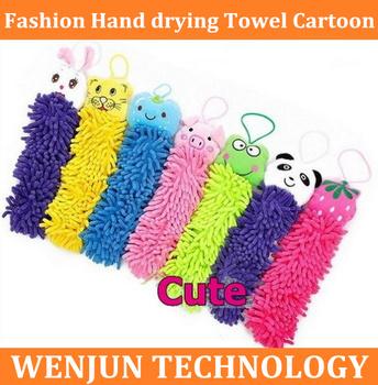 Freeshipping Fashion Hand drying Towel Cartoon Microfiber Fabric Cute animal towel lovely animal face towel,8 designs to choose