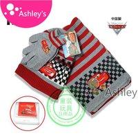 Wholesale Girls&boys 3pcs set Girls&boys Crochet hat+gloves+scarf 3pcs Free shipping