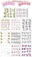 10 Sets/lot (110sheets) Big Sheet French Nail Tattoo Water Decals Free Shipping
