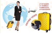 "free shipping !!great  selling! traveling case frosted ABS+PC 24"" luggage case rolling luggage suitcase 1 PC"