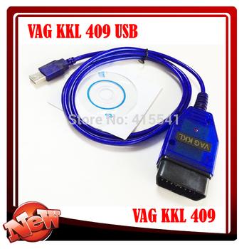 USB vag Kkl For 409. 1 (Blue Cable) Vag Diagnostic Tool vag kkl 409 usb vag 409.1