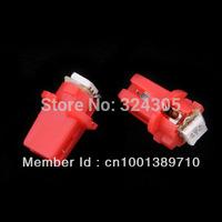 wholesale 15pcs T5 B8.3D 1 SMD 5050 Car LED Indicator Light instrument light license C5W Side Interior Lamp Bulb Red blue white