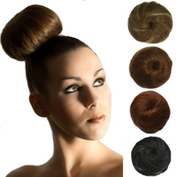 Q3 New Style 16 Colors To Pick Straight Donuts Hair Bun Chignon Women's Hair Balls Good Supply From Factory Free Shipping 1pc