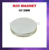 Free  shipping1000pcs/lot  N35 10 x 2mm ndfeb magnet High performance magnetic materials