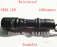 Whlesale Zoomable UltraFire Flashlight 3 Mode CREE Q5 LED Flashlight Free Shipping
