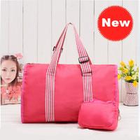 Free Shipping ! 2pcs 2014 fashion women bags, lady Nylon folding waterproof travel totes middle luggage CX209