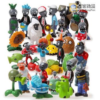 32pcs/set Plants vs Zombies figures set 12 pcs Plants + 19 pcs Zombies + Boss PVC toys 4-8cm for Kids gift free shipping