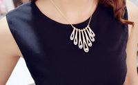 free shipping 2014 new fashion women ladies pendant necklace costumes Jewelry, wholesale discount for statement dress necklaces