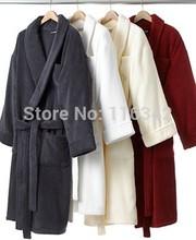 hot sale strong absorption lovers'  bathrobe,kimono collar cotton bathrobe,hotel towel bathrobe,free shipping(China (Mainland))