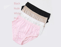 3-Pcs Silk  Elegant Lace  Briefs Sexy Lingerie Hot Underwear Women 2013 New Brand Ladies Panties Pink Black Nude White M L XL